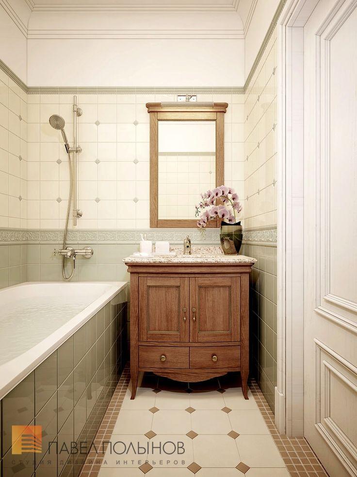 Уютная ванная комната в английском стиле от студии Павла Полынова