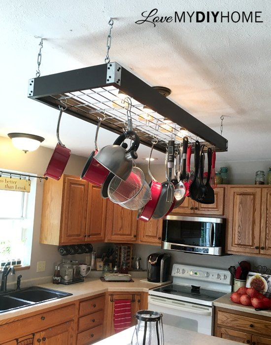 Industrial Pot Rack: How to Store Bulky Pots in Style