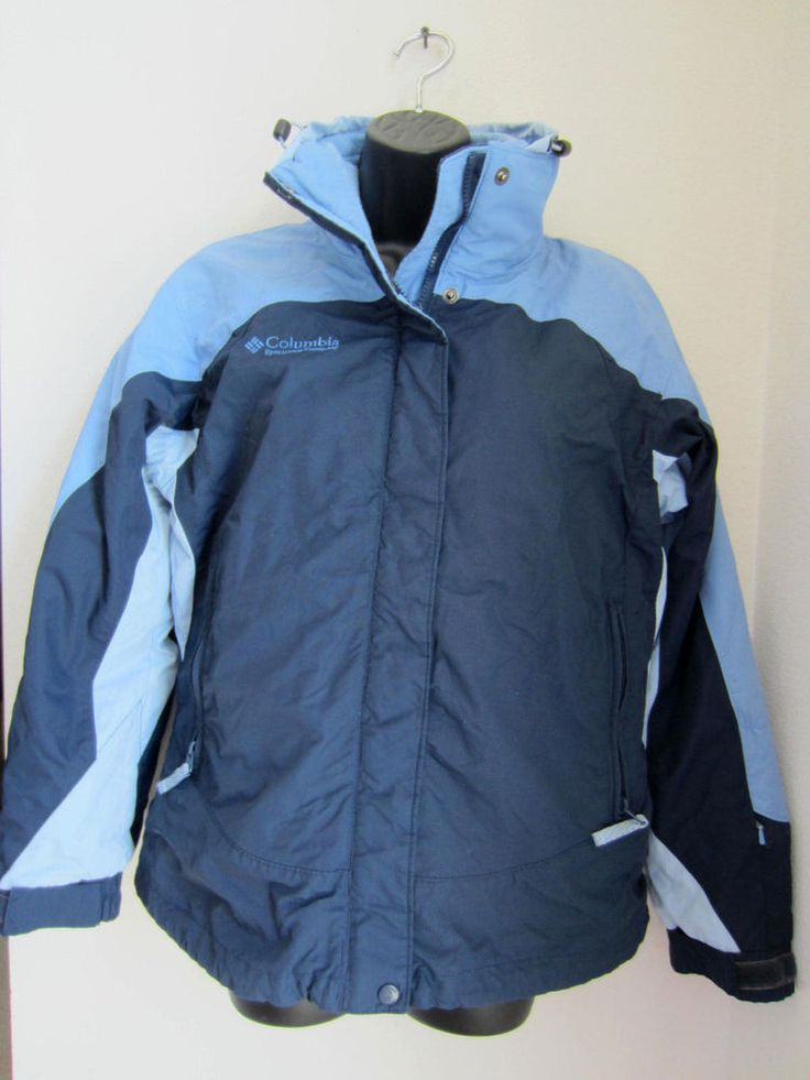 Columbia Coat S Small Blue Core Interchange Fleece Jacket 3 in 1 #Columbia #BasicCoat