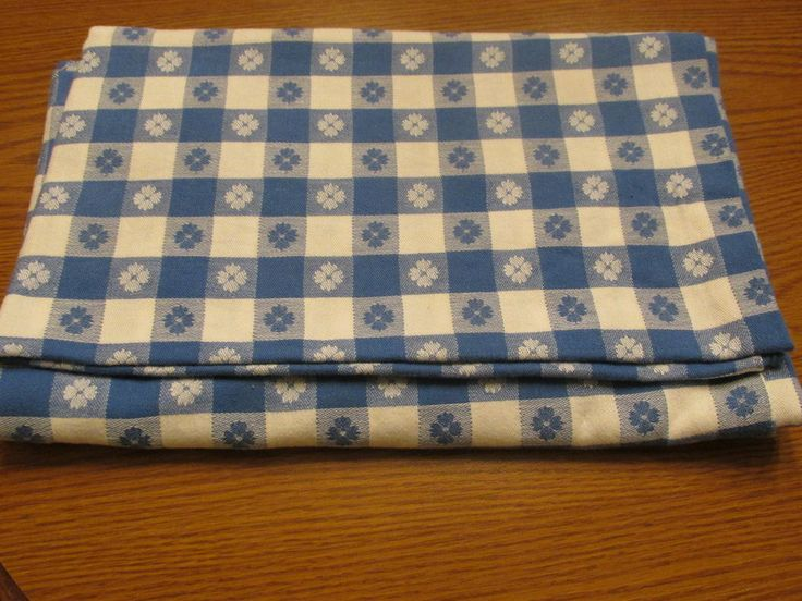 VinTage White U0026 Blue Gingham Clover Check Cotton Tablecloth Never Used  Excellent | Retro 50u0027s Vintage Bright Color Table Linens | Pinterest