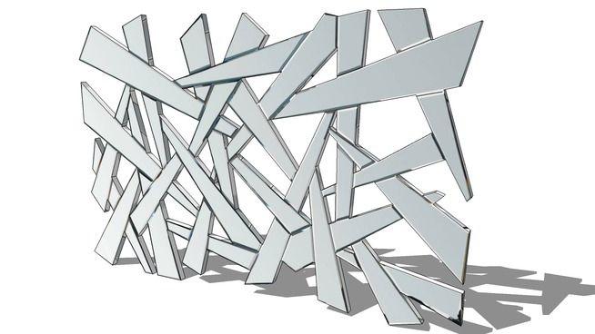 Eclat, le miroir Maisons du monde. Réf: 116.512 Prix: 199 € - 3D Warehouse