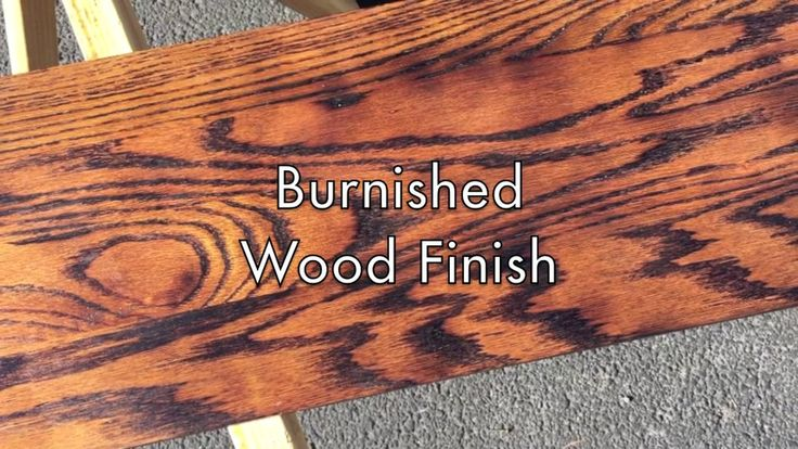 Searching for the hottest look in wood finishes? You can't get much better than this!   For a burnished finish, we actually toasted the grain of the wood…