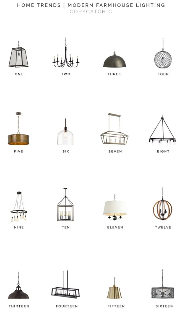 Home Trends Modern Farmhouse Lighting Copycatchic Modern