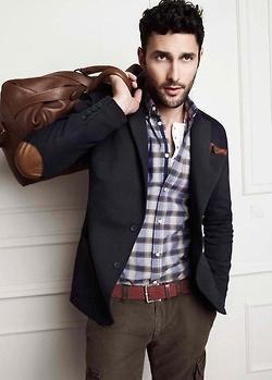 The Style Division: Navy Blazers, Elbow Patches, Noah Mills, Men Style, Men Fashion, Men Bags, Pockets Squares, Plaid Shirts, Men Wear