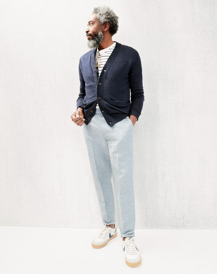 nike blazers mens white linen pants