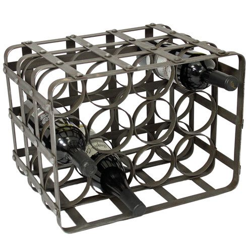 Found it at Joss & Main - Urban Industrial 12 Bottle Tabletop Wine Rack