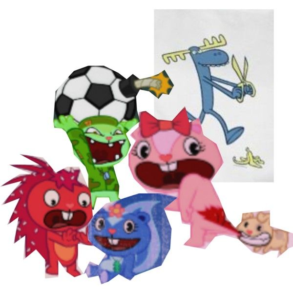 """""""Happy Tree Friends"""" by zordbrix on Polyvore"""