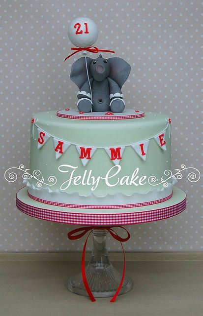 Elephant And Bunting 21st Birthday Cake Flickr Photo