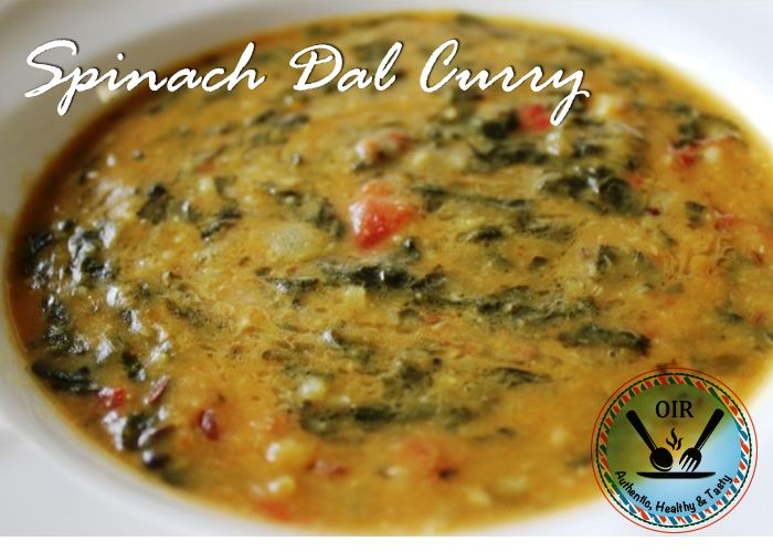 9 best original indian recipes images on pinterest indian food south indian nutritious spinach yellow lentils curry forumfinder Gallery