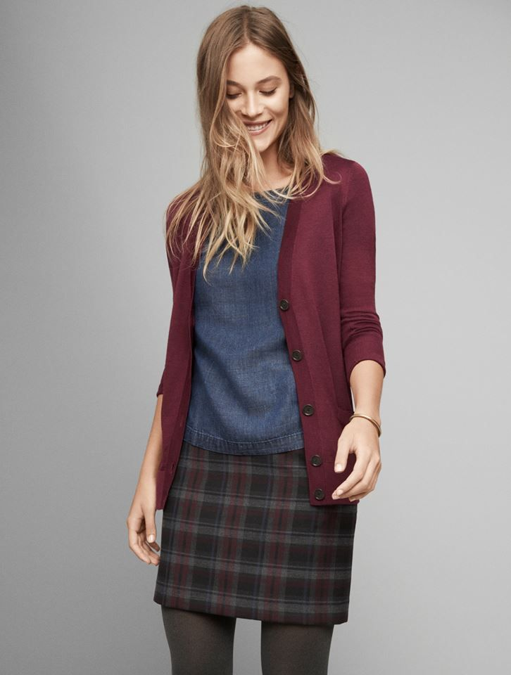 Plaid and chambray. Classic love story. #FallEssentials