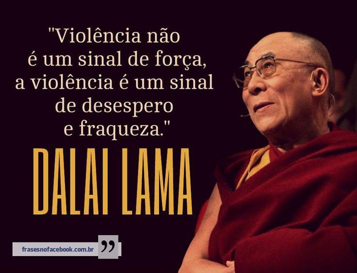 Frases para Facebook - Violência não é um sinal de força - Frases com imagens e recados para Facebook