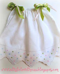 A Little Loveliness: Tea Towel Pillowcase Doll Dress Tutorial