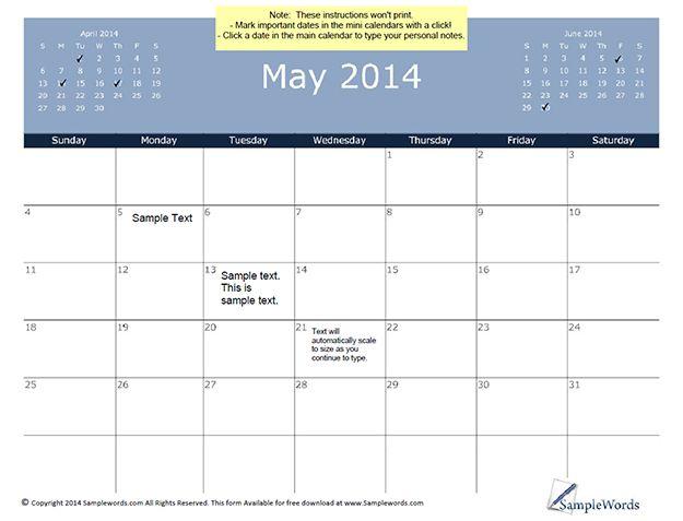 10 Best Calendars Images On Pinterest Calendar Templates Schedule