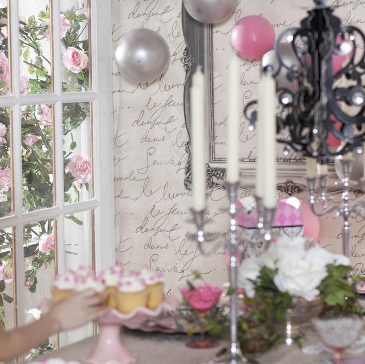 Elegant Birthday Party Decorations Princess Damask