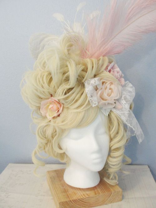 Marie Antoinette-inspired wig
