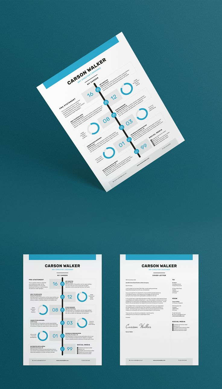 Professional ResumeCV Cover letter Template