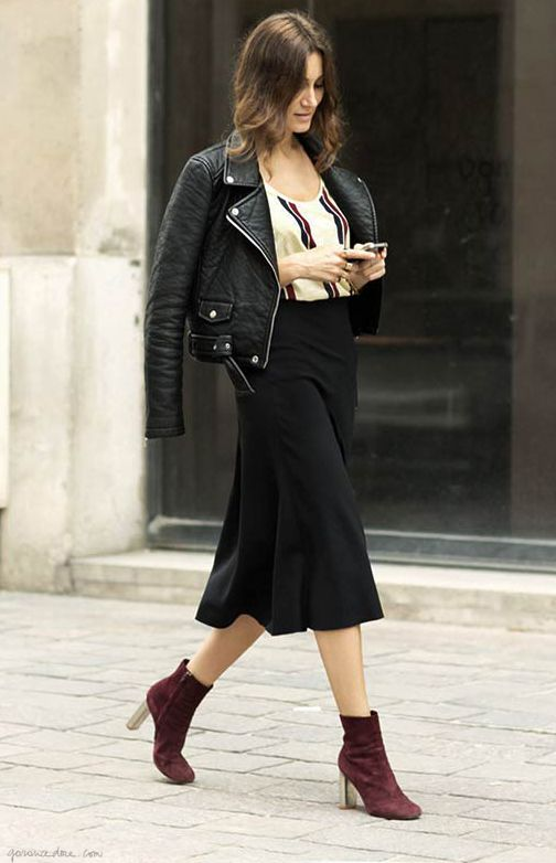 Giorgia, on the street in a great fall outfit with Zara jacket http://www.garancedore.fr/en/2013/10/23/giorgia-3/