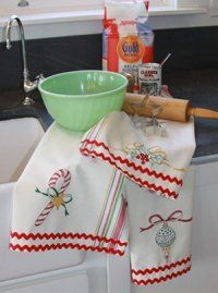 I want to make these because they remind me of my grandma. She always made embroidered tea towels. I really miss her!