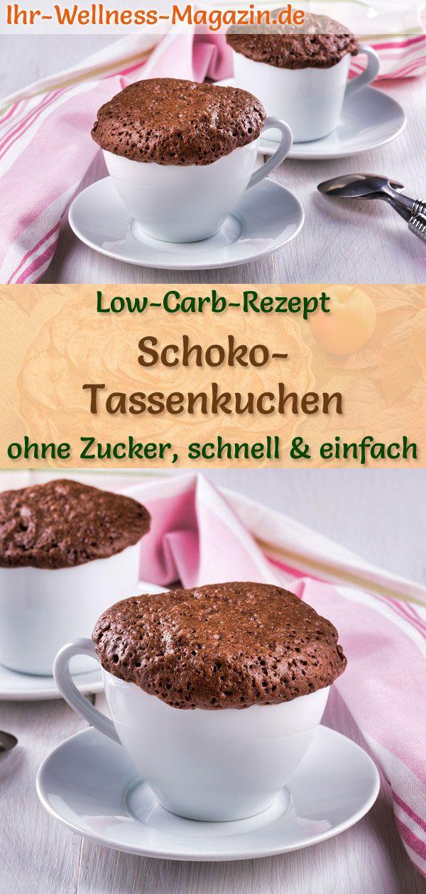 Low Carb Schoko-Tassenkuchen – einfaches Mug-Cake-Rezept ohne Zucker