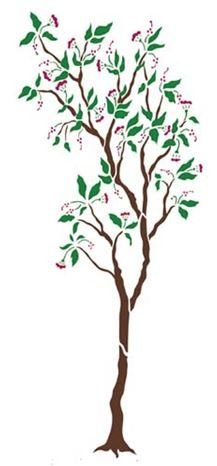 Large Tree with Blossoms Wall Stencil