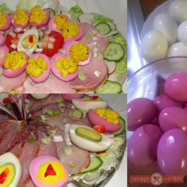 Lila tojás hidegtálhoz