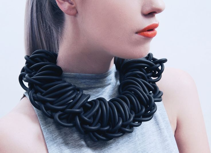 rubber necklace by alienina alienina.com