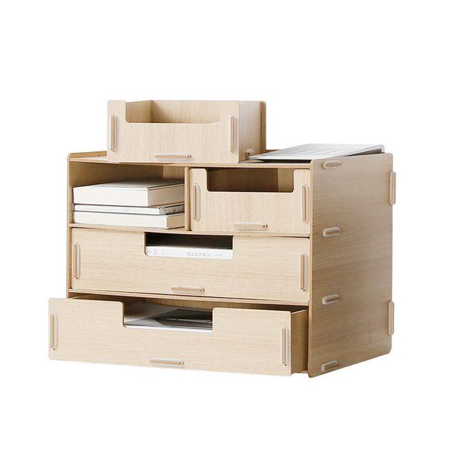 Organizador Del Escritorio De Oficina de madera de Estilo Moderno Colorido Cosméticos/Caja con Cajones de Almacenamiento de Artículos Diversos de Almacenamiento de Archivos de Documentos A4 Bastidores