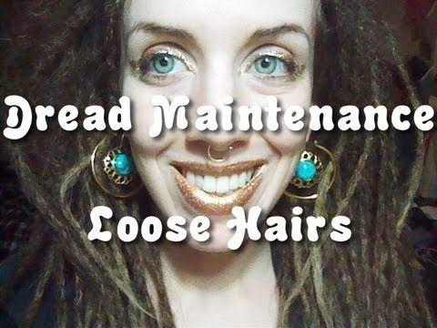Dreadlock Maintenance - pulling in loose hairs - YouTube