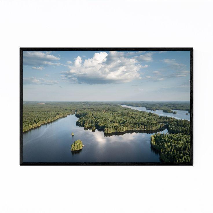 Noir Gallery Kangasniemi Finland Landscape Framed Art Print (16 x 20 – Black)