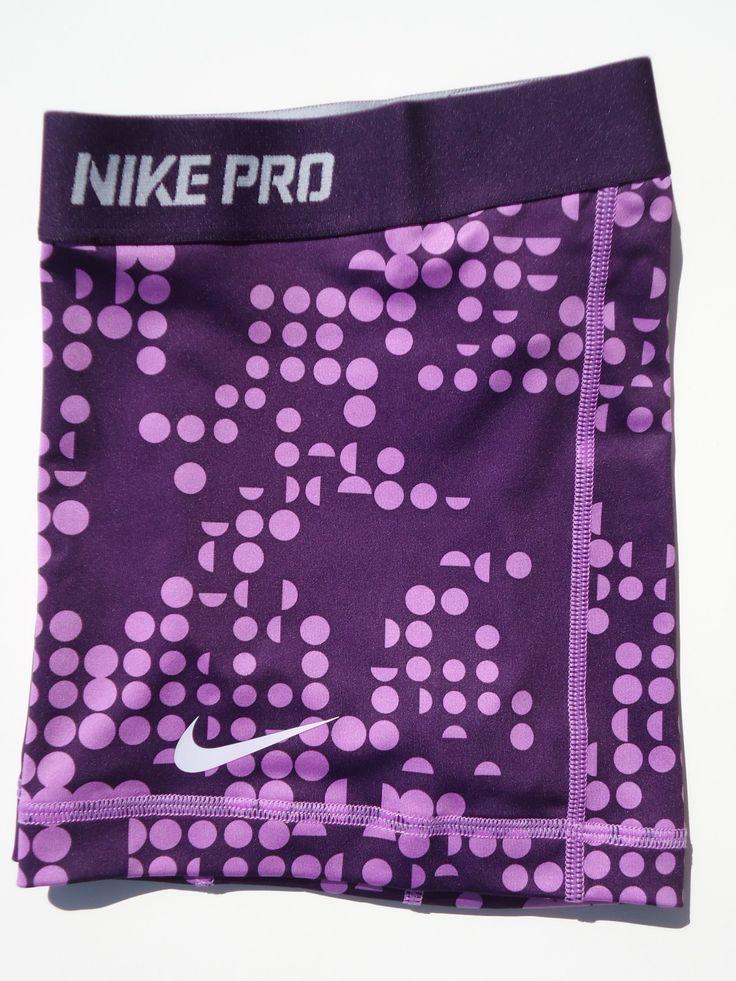 New s Purple Dot Print Nike® Pro Combat Women's Dri Fit Shorts Size Small   eBay