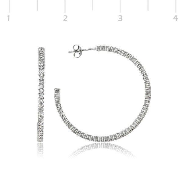 Gümüş Taşlı Halka Küpe - TBS-3566