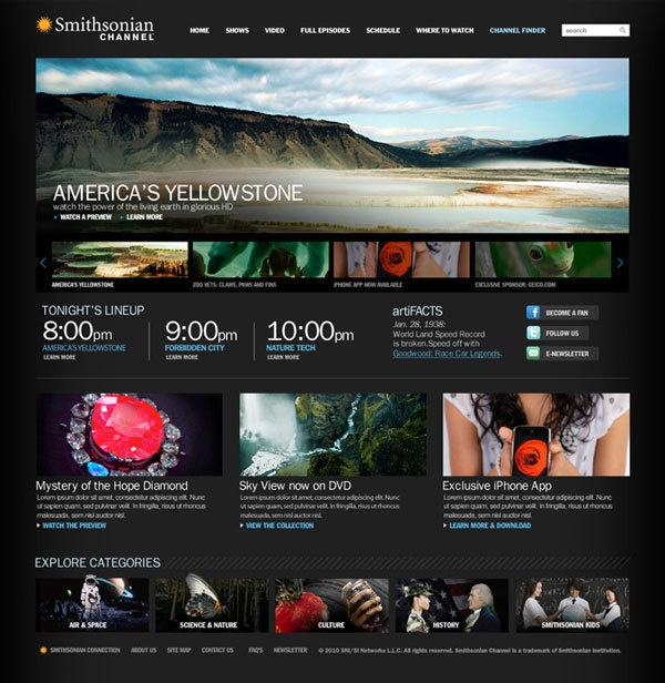 Web Design Served  Smithsonian Channel