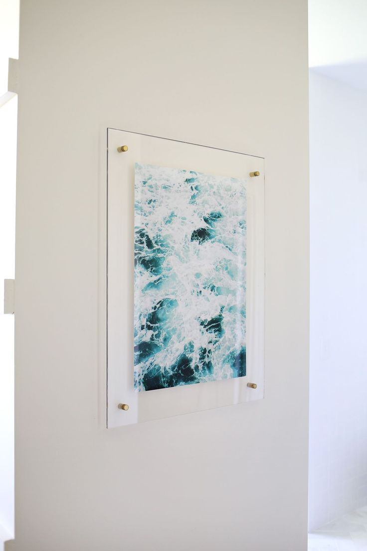 how to frame watercolour paintings with a floating acrylic frame
