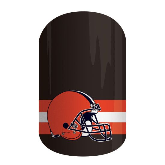 Cleveland Browns | NFL Collection by Jamberry | Get gameday style with Jamberry's NFL Collection. Our officially licensed NFL products feature your favorite team logo and colors so you can cheer your team to victory with 'Cleveland Browns' on your nails.