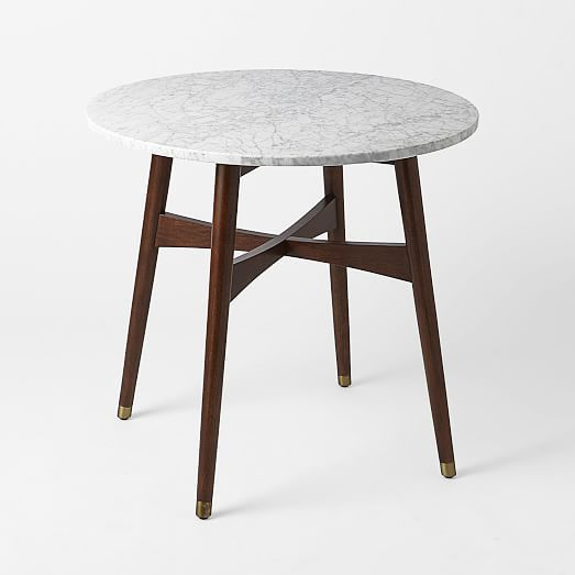 mid century modern marble top small dining table perfect for a little breakfast nook