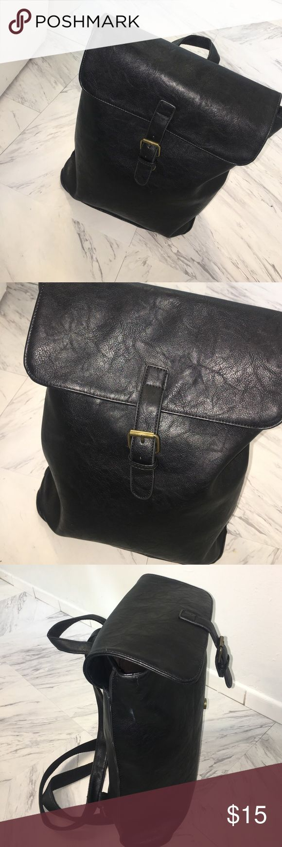 Faux Leather Backpack L:13 W:12 this is a  fashionable backpack to take to your next outing whether it's to the Fair, Music Festival, or Shopping downtown with friends. This is a perfect piece to add to your collection. Great condition, only used a few times then stored away in my closet. Bags Backpacks
