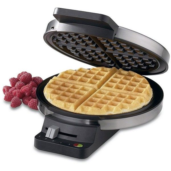 Cuisinart Classic Round Waffle Maker ❤ liked on Polyvore featuring home, kitchen & dining, small appliances, cuisinart waffle maker, cuisinart waffle iron, cuisinart and round waffle maker