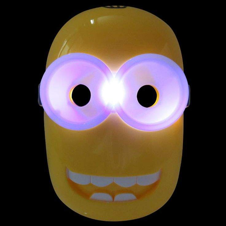 20pcs Children Toy Despicable Me Masks Christmas Cosplay Light Party Masks Disfraces Carnaval Masquerade Masks GG-013