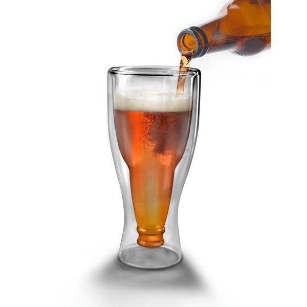 Zaskakujący prezent dla każdego piwosza. Kufel butelka to designerski pokal do piwa, który po zalaniu złotym trunkiem wygląda jakby w środku była butelka.