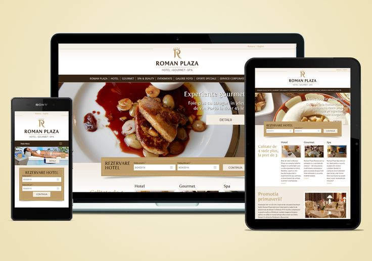 Responsive webdesign for Roman Plaza