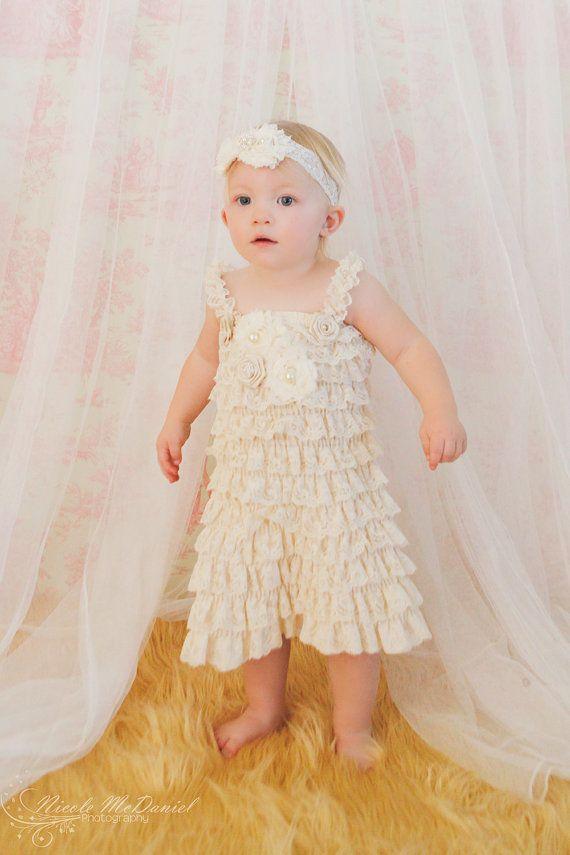Lace Baby Dress  Flower Girls Dress  Lace Dress  by PoshPeanutKids