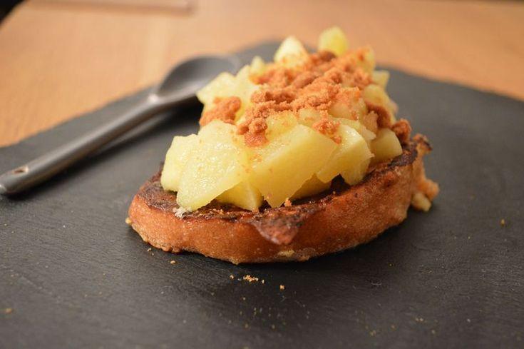 Tartine pomme et spéculoos - type pain perdu