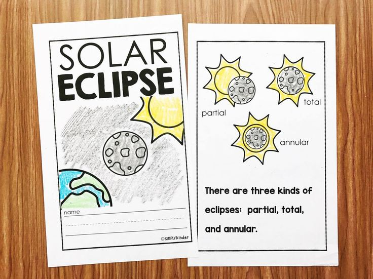 Eclipse Activities for preschool, kindergarten, and first grade!  A fun solar eclipse book that is easy to read and filled with content appropriate for your early childhood students!