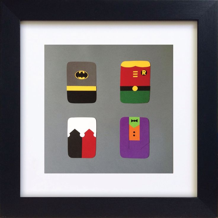 Handmade Minimalist DC Batman Poster - Framed