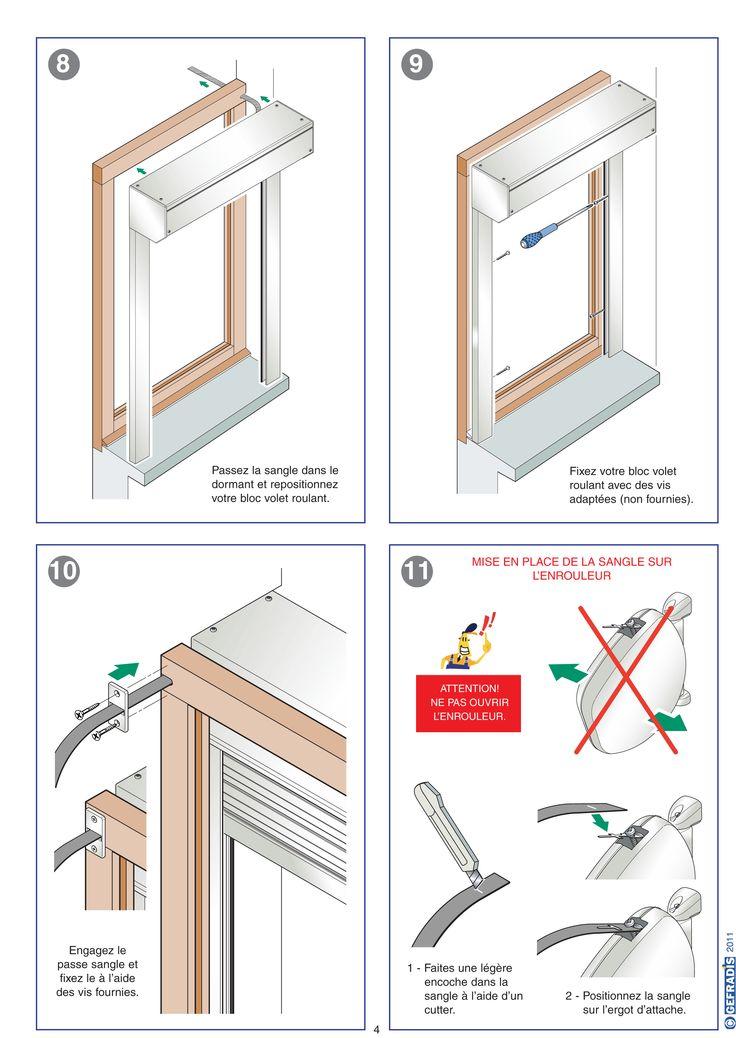 Page 4. La notice Gefradis vous aide à poser votre volet roulant rénovation (à coffre extérieur) vous-même.