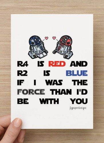 Star Wars Valentines Day Card- BUY ONE GET ONE FREE!