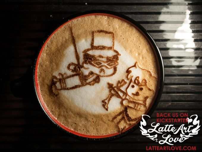 Latte Art - Save Tuxedo Mask