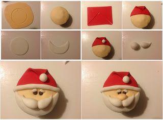Para quem gosta de bolo: Passo a passo: cupcake de Papai Noel só com pasta…