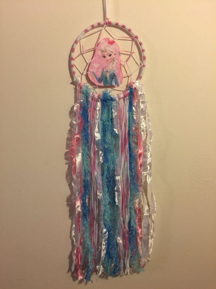 Dreamcatcher Hand Made - Frozen - Elsa- 15cm Hoop by DreamcatchersByIsale on Etsy
