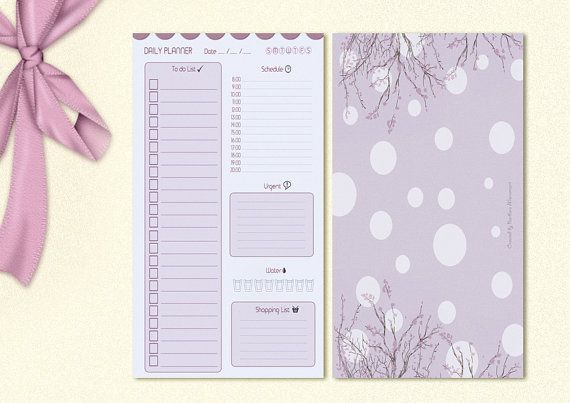 Daily Planner for Filofax Size Personal - GraphicWithLove Shop Etsy
